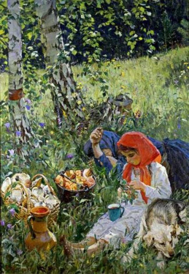 А. А. Пластов «Лето» - описание картины