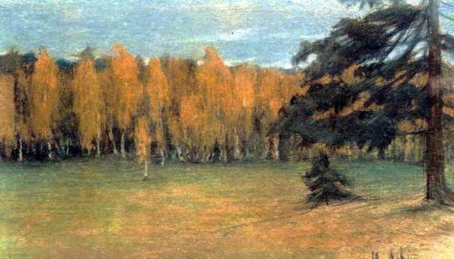 И. И. Левитан «Осенний пейзаж» - описание картины
