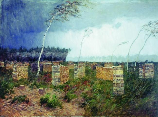 """И.И. Левитан """"Буря. Дождь"""" - описание картины"""