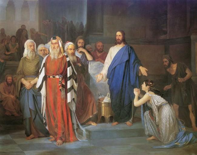 """Сочинение по картине: Аскназий - """"Блудница перед Христом"""""""