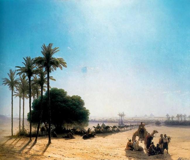 "Сочинение по картине: Айвазовский - ""Караван в оазисе. Египет"""