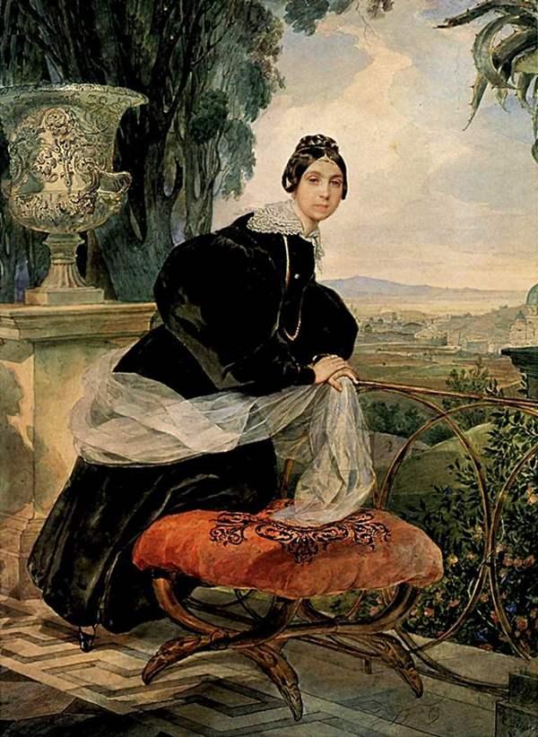 Сочинение по картине брюллов портрет