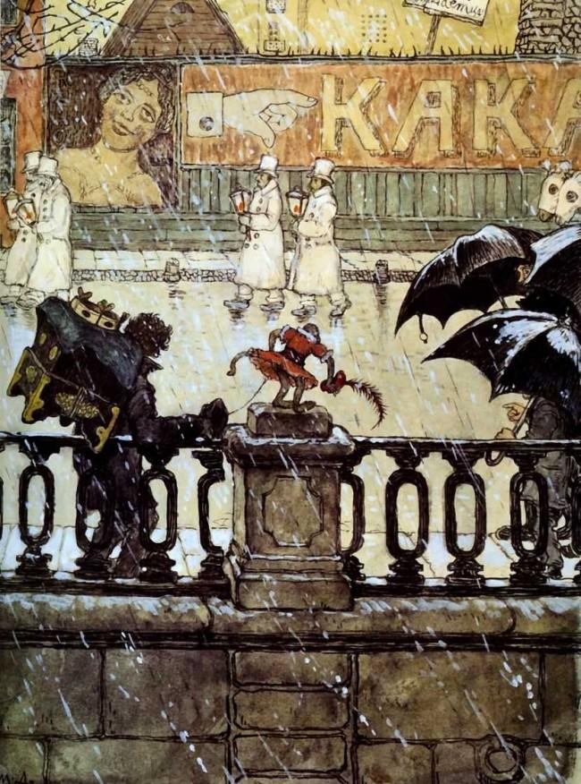Сочинение по картине «Добужинский — Городские типы (Гримасы города)» в