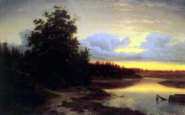 """Сочинение по картине: Каменев - """"Ночь на реке Мологе"""""""
