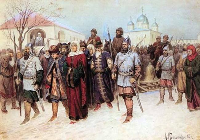 """Сочинение по картине: Кившенко - """"Присоединение Великого Новгорода"""""""
