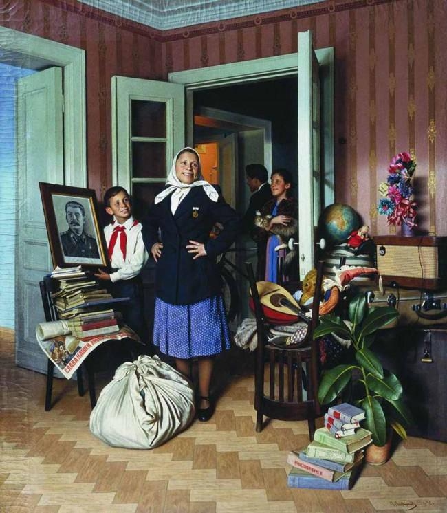 """Сочинение по картине: Лактионов - """"Переезд на новую квартиру"""""""