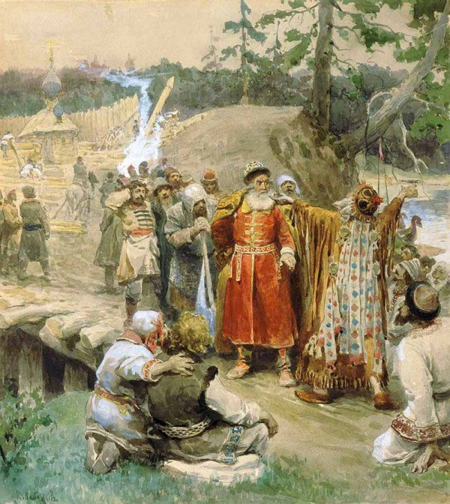 """Сочинение по картине: Лебедев - """"Освоение русскими новых земель"""""""