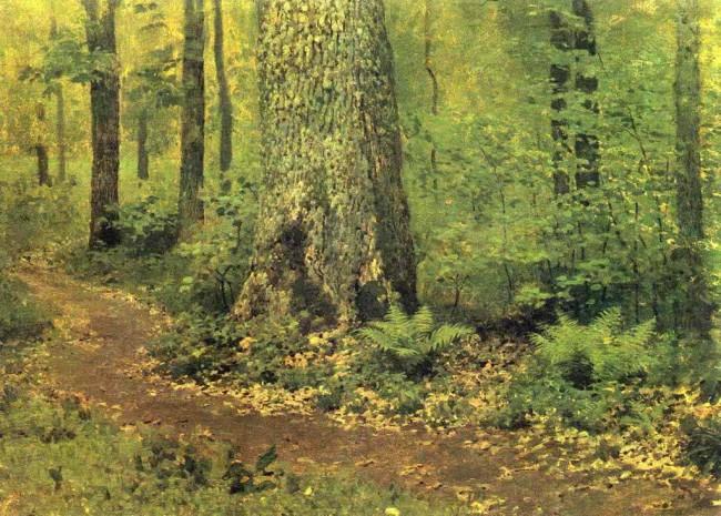 """Сочинение по картине: Левитан - """"Тропинка в лиственном лесу. Папоротники"""""""