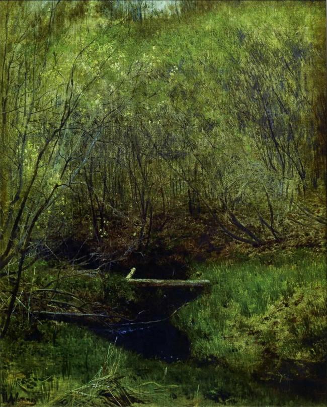 По картине левитан — весной в лесу