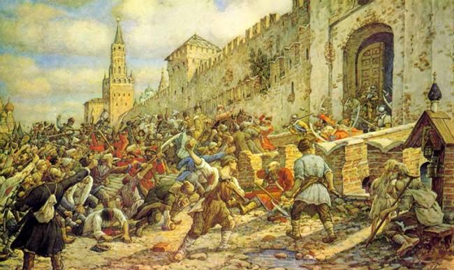 """Сочинение по картине: Лисснер - """"Соляной бунт на Красной площади"""""""