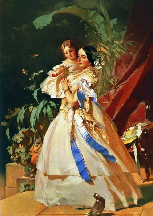 """Сочинение по картине: Макаров - """"Портрет неизвестной с девочкой"""""""