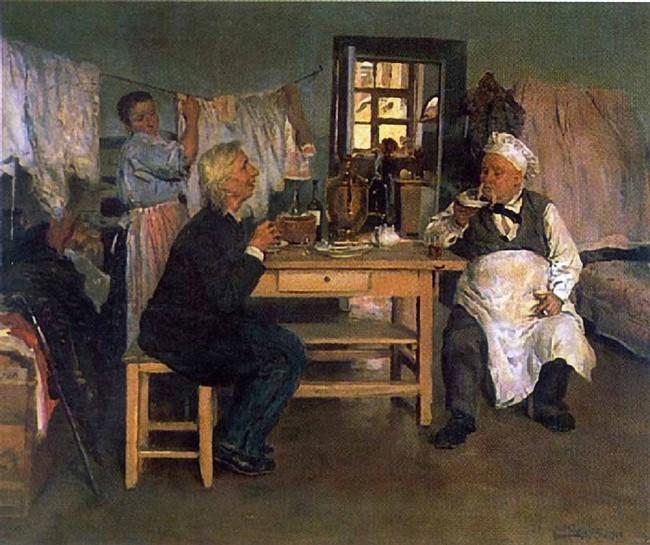 "Сочинение по картине: Маковский - ""Беседа. Идеалист-практик и материалист-теоретик"""