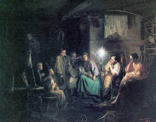 """Сочинение по картине: Максимов - """"Бабушкины сказки"""""""