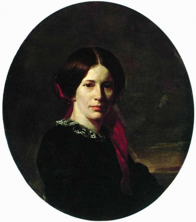 """Сочинение по картине: Неврев - """"Портрет молодой женщины в черном бархатном платье"""""""