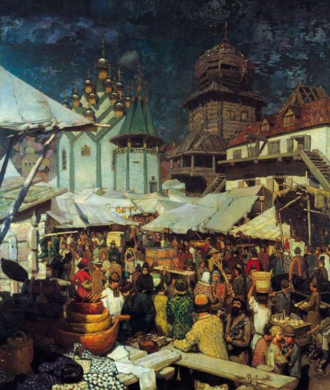 """Сочинение по картине: Васнецов - """"Базар. XVII век"""""""