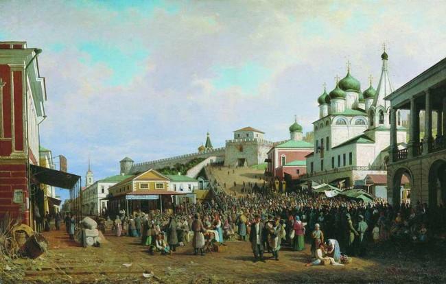"""Сочинение по картине: Верещагин - """"Рынок в Нижнем Новгороде"""""""