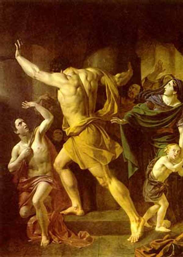 """Сочинение по картине: Завьялов - """"Самсон разрушает храм филистимлян"""""""
