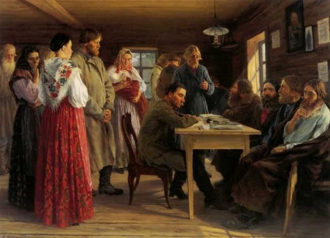 """Сочинение по картине: Зощенко - """"Волостной суд"""""""