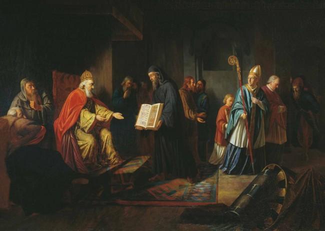 """Сочинение по картине: Эггинк - """"Великий князь Владимир выбирает веру"""""""