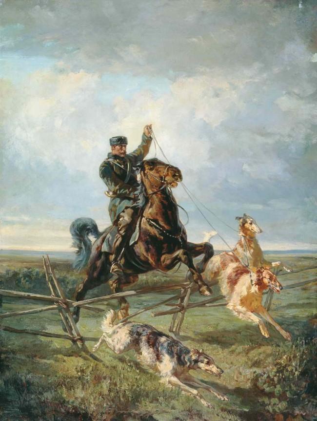 """Сочинение по картине: Френц - """"Егерь с тремя борзыми"""""""