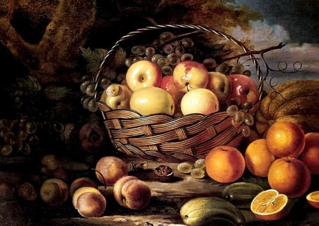 """Сочинение по картине: Хруцкий - """"Плоды и дыня"""""""