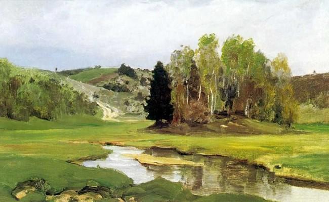 """Сочинение по картине: Поленов - """"Речка Свинка, близ Алексина"""""""