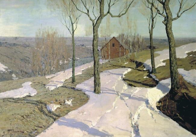 """Сочинение по картине: Пурвит - """"Последний снег"""""""