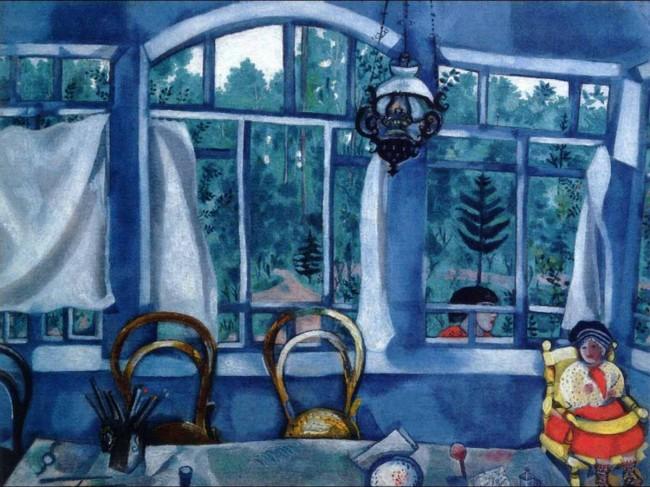 """Сочинение по картине: Шагал - """"Окно в сад"""""""