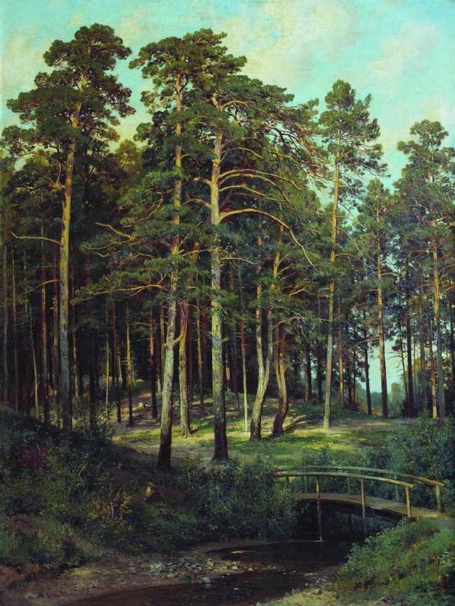 "Сочинение по картине: Шишкин - ""Мостик в лесу"""