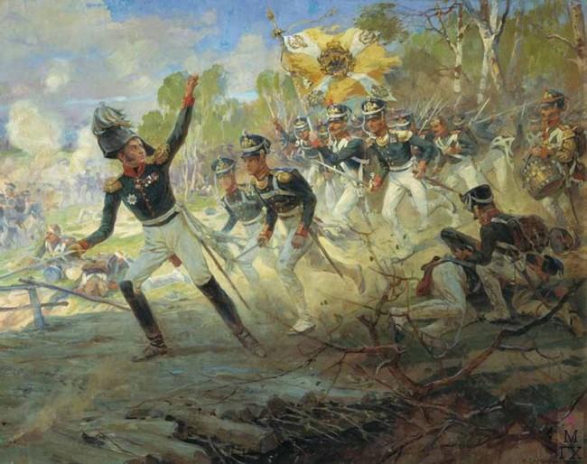 """Сочинение по картине: Самокиш - """"Подвиг солдат генерала Н.Н.Раевского под Салтановкой 11 июля 1812 года"""""""