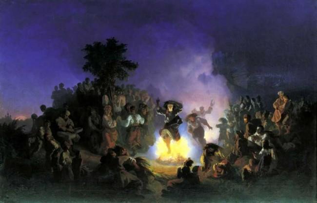 """Сочинение по картине: Соколов - """"Ночь на Ивана-Купалу"""""""