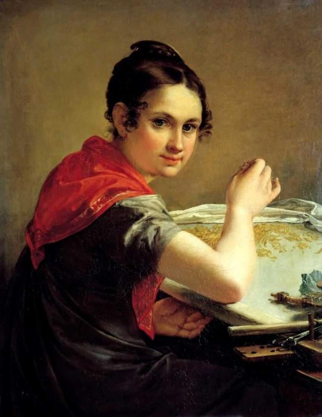 """Сочинение по картине: Тропинин - """"Золотошвейка"""""""