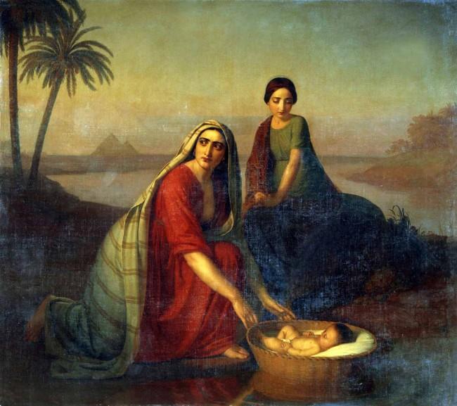 """Сочинение по картине: Тыранов - """"Моисей, опускаемый матерью на воды Нила"""""""