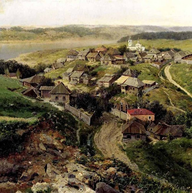 "Сочинение по картине: Ярцев - ""Село"""