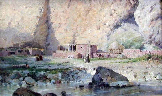 "Сочинение по картине: Ярцев - ""В кавказских горах"""